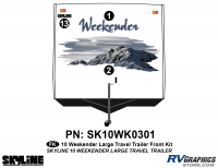 3 Piece 2010 Weekender Lg TT  Front Graphics Kit
