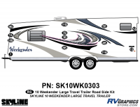 13 Piece 2010 Weekender Lg TT  Roadside Graphics Kit