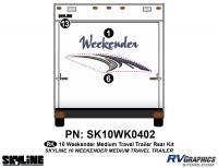 3 Piece 2010 Weekender Med TT  Rear Graphics Kit