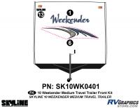 3 Piece 2010 Weekender Med TT  Front Graphics Kit