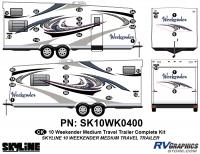 32 Piece 2010 Weekender Med TT Complete Graphics Kit