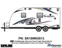 10 Piece 2010 Weekender UltraLite TT  Roadside Graphics Kit