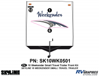 3 Piece 2010 Weekender Sm TT  Front Graphics Kit