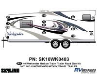 13 Piece 2010 Weekender Med TT  Roadside Graphics Kit