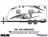 9 Piece 2010 Weekender Sm TT  Roadside Graphics Kit