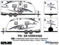 24 Piece 2010 Weekender Sm TT Complete Graphics Kit