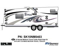 13 Piece 2010 Nomad Med TT Roadside Graphics Kit