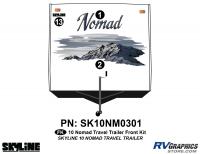 3 Piece 2010 Nomad Lg TT Front Graphics Kit