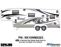 13 Piece 2010 Nomad FW Roadside Graphics Kit