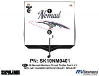 3 Piece 2010 Nomad Med TT Front Graphics Kit