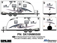 24 Piece 2010 Nomad Sm TT Complete Graphics Kit