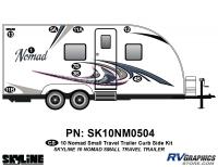 9 Piece 2010 Nomad Sm TT Curbside Graphics Kit