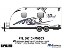 9 Piece 2010 Nomad Sm TT Roadside Graphics Kit