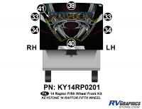 7 Piece 2014 Raptor Fifth Wheel Front Graphics Kit