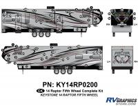 81 Piece 2014 Raptor Fifth Wheel Complete Graphics Kit