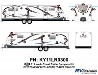 35 Piece 2011 Laredo TT Complete Graphics Kit