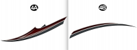 2 pc Mid Accent Spear TipR/S(Roadside/Left/Driver)