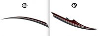 2 pc Mid Accent Spear TipC/S (Curbside/Right/Passenger)