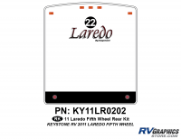 1 Piece 2011 Laredo FW Rear Graphics Kit