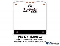 1 Piece 2011 Laredo TT Rear Graphics Kit