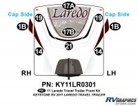 10 Piece 2011 Laredo TT Front Graphics Kit