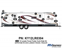 15 Piece 2012 Laredo Travel Trailer Curbside Graphics Kit