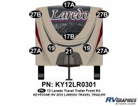 9 Piece 2012 Laredo Travel Trailer Front Graphics Kit