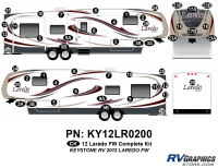 49 Piece 2012 Laredo Fifth Wheel Complete Graphics Kit