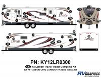 40 Piece 2012 Laredo Travel Trailer Complete Graphics Kit