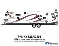 15 Piece 2012 Laredo Travel Trailer Roadside Graphics Kit