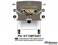 6 Piece 2013 Mountaineer FW Front Graphics Kit