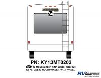1 Piece 2013 Mountaineer FW Rear Graphics Kit