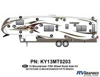25 Piece 2013 Mountaineer FW Roadside Graphics Kit