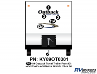 5 Piece 2009 Outback TT Front Graphics Kit