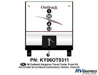 4 Piece 2006 Outback Kargaroo TT Front Graphics Kit
