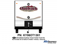 2 Piece 2006 Outback Sydney TT Front Graphics Kit