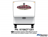 1 Piece 2006 Outback Sydney FW Front Graphics Kit
