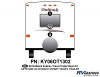3 Piece 2006 Outback Sydney TT Rear Graphics Kit