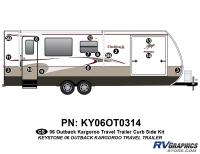 12 Piece 2006 Outback Kargaroo TT Curbside Graphics Kit