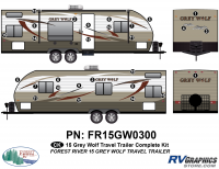 28 Piece 2015 Grey Wolf TT Complete Graphics Kit