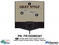 3 Piece 2015 Grey Wolf TT Front Graphics Kit