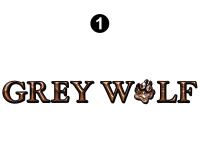 Large Grey Wolf Logo