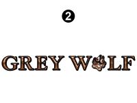 Small Grey Wolf Logo