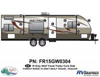 12 Piece 2015 Grey Wolf TT Curbside Graphics Kit