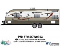 12 Piece 2015 Grey Wolf TT Roadside Graphics Kit