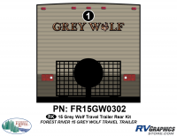 1 Piece 2015 Grey Wolf TT Rear Graphics Kit