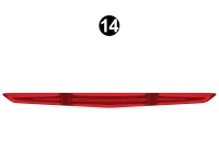 Rear Upper Faux Red Light (P)
