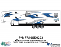 8 Piece 2010 Sandstorm Blue FW Roadside Graphics Kit