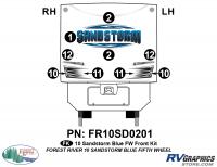 9 Piece 2010 Sandstorm Blue FW Front Graphics Kit