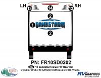 6 Piece 2010 Sandstorm Blue FW Rear Graphics Kit